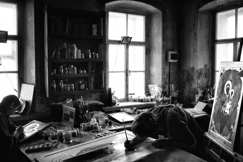 Мастерская иконописца Максима Шешукова © Олег Климов